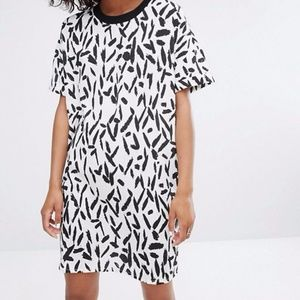 Noisy may contrast collar print dress